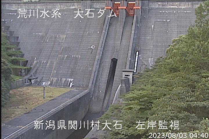 大石ダム下流ライブカメラ(新潟県関川村大石) | ライブカメラDB