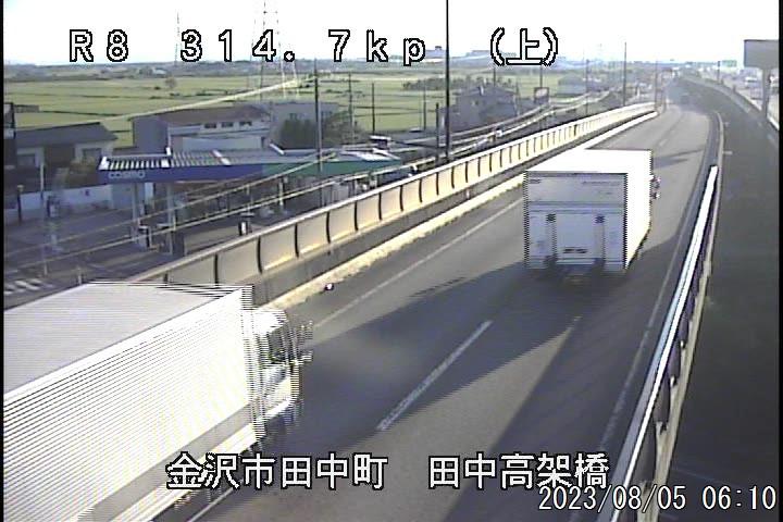 国道8号 金沢市 田中 (上り:富山方面)