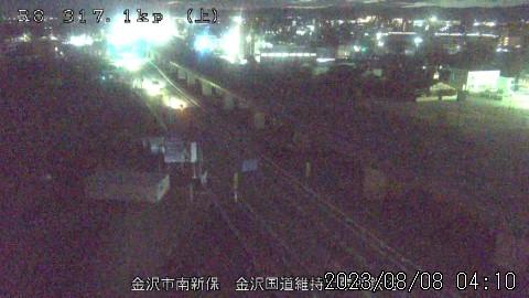 国道8号 金沢市南新保(上り:富山方面)